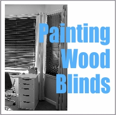 Painting Wooden Blinds