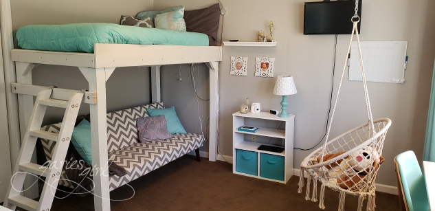 Bedroom After with Loft Bed
