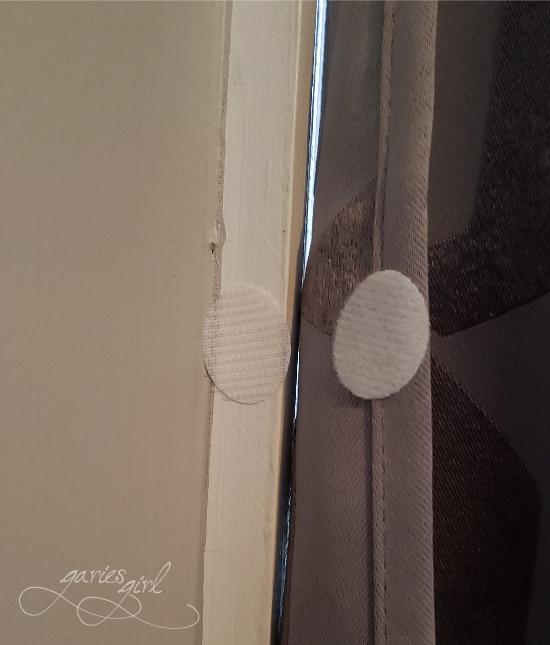 Velcro Ovals on Curtains