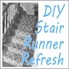 DIY Stair Runner Refresh