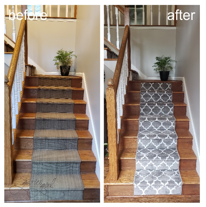Stair Runner - Before and After