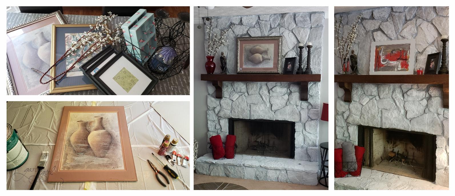 Fireplace Mantel - Artwork