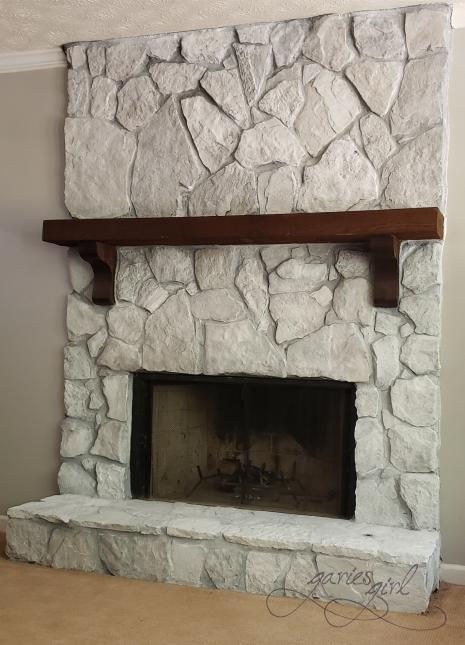 Fireplace - Whitewashed