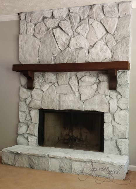 Fireplace - Whitewashed