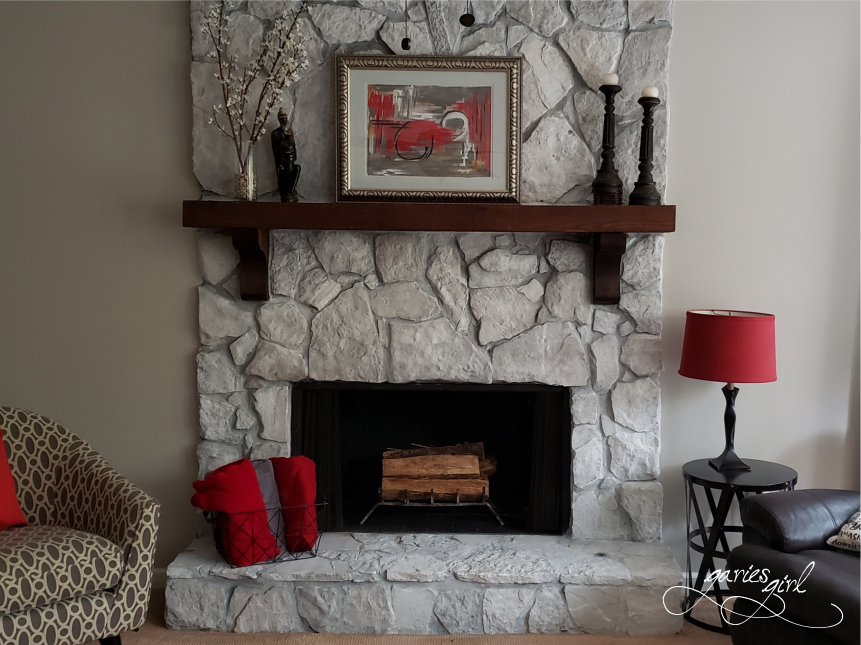Garies Girl Fireplace After