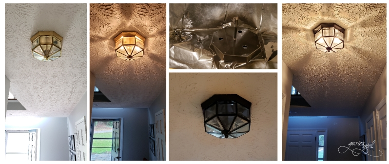 Brass Light Fixture Refresh