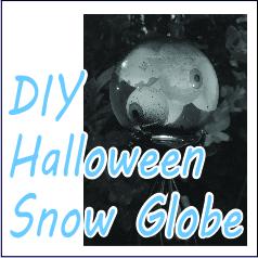 DIY Halloween Snow Globe - Garies Girl