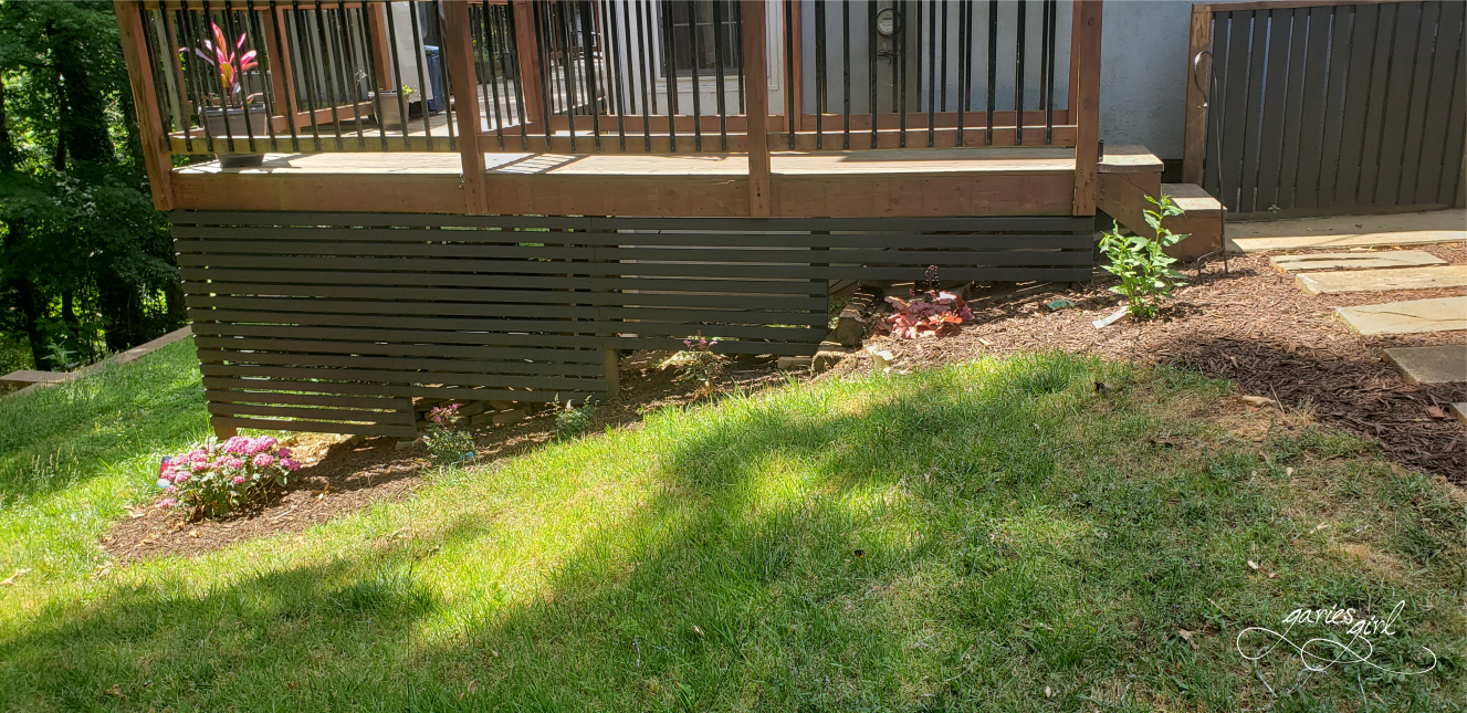 Deck Siding Flower Bed After - Garies Girl