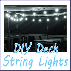 DIY Deck String Lights - Garies Girl