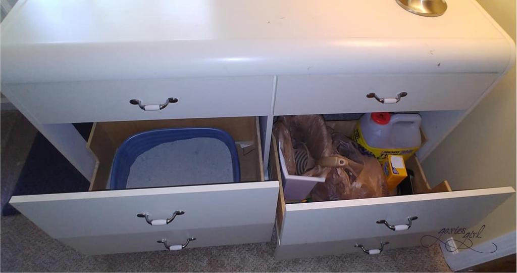 Litter Box Cabinet - Before Drawers - Garies Girl