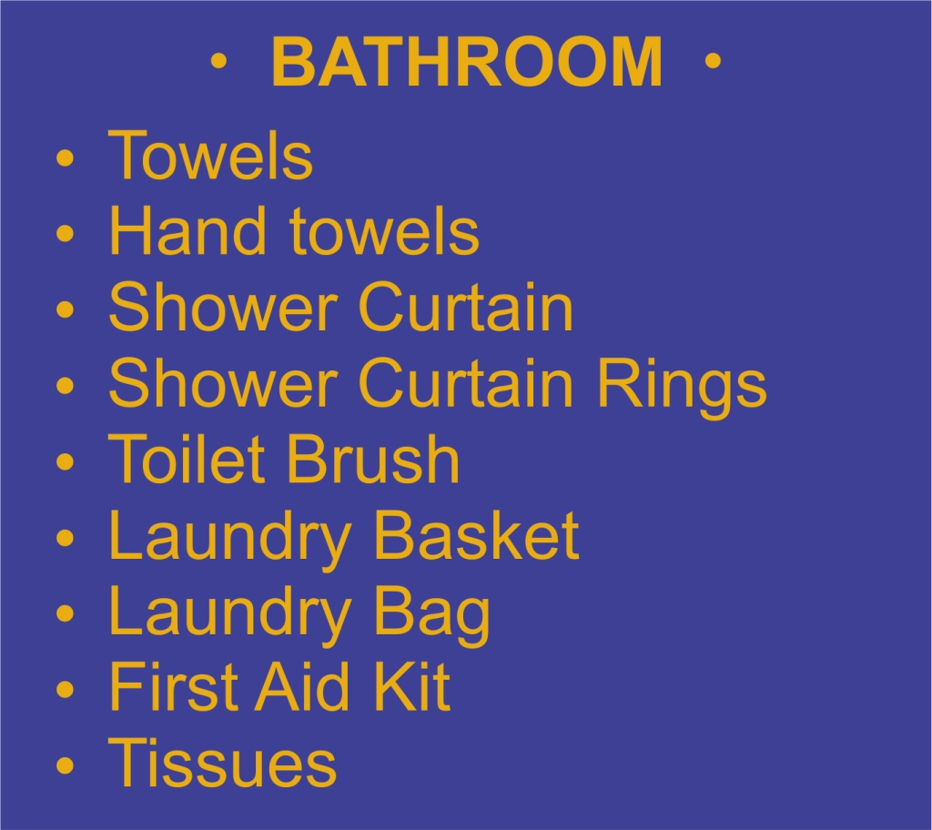 List - Bathroom - Garies Girl