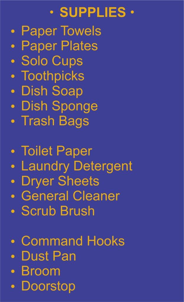 List - General Supplies - Garies Girl