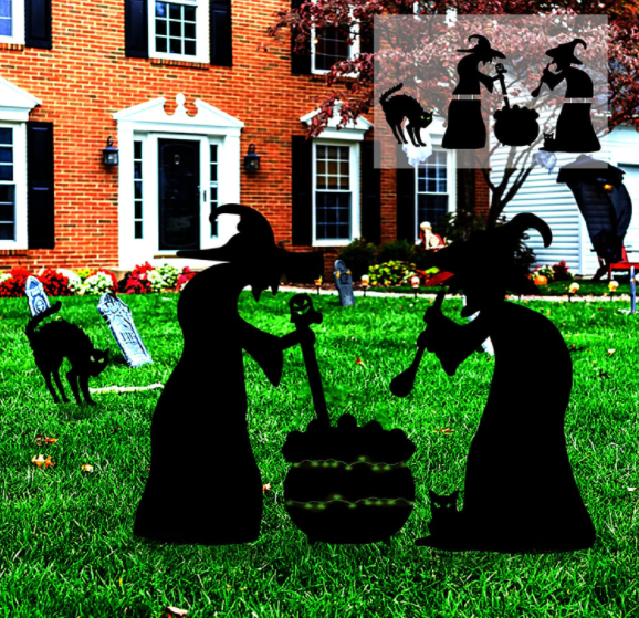 Halloween Witch Lawn Stakes - Garies Girl